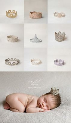 baby crowns... where were these in 2003?? Simply precious!