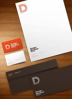 Design Museum Boston on Branding Served Corporate Identity Design, Brand Identity Design, Stationery Design, Graphic Design Typography, Brochure Design, Branding Design, Logo Design, Visual Identity, Identity Branding
