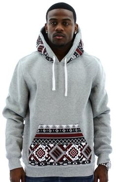 Escapism Men's Hoodie Aztec Print Hooded Sweatshirt