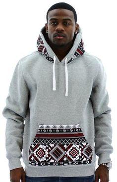 Escapism Men's Hoodie Aztec Print Hooded Sweatshirt