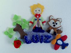 Claudia Luiz - artesanato para bebê e casamento: Pequeno Príncipe - Enfeite de porta