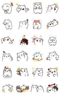 Bac Bac's Diary Animated! Emoji Drawings, Cute Kawaii Drawings, Kawaii Art, Cute Cartoon Characters, Chibi Characters, Cartoon Stickers, Cute Stickers, Cartoon Caracters, Art Deco Font