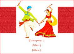 Dandiya Dance   Holi Invitation, e-Card greeting   EventEve.com