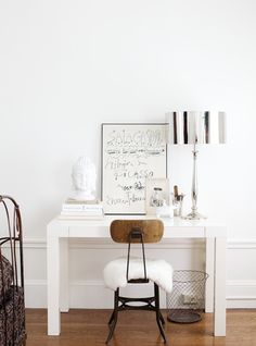 Cute little desk area