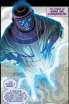 Kang the Conqueror (Nathaniel Richards) Evil Villains, Marvel Villains, Marvel Comics Art, Kang El Conquistador, Dragon Ball Z, Comic Book Covers, Comic Books, Kang The Conqueror, Red Ghost