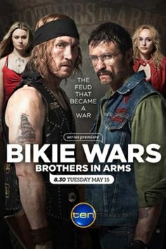 Bikie Wars Brothers In Arms Episode Brothers in Arms is the story of the lead up, reasons and the repercussions of the Milperra Massacre where two warring Motorcycle Clubs faced off in the car park of a western Sydney pub .