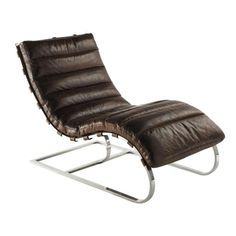 Lounge chairs and pufs para tu salón – Armchair Ideas Living Room Rocking Chairs, White Rocking Chairs, Black Leather Armchair, Brown Armchair, Affordable Furniture, Luxury Furniture, Furniture Design, Fire Pit Table And Chairs, Vintage Sofa