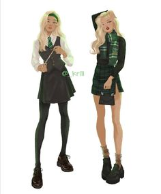 hot girl summer but it's september 😎 like this post i disappear again for another month lol jk. Female Harry Potter, Harry Potter Uniform, Hogwarts Uniform, Harry Potter Girl, Slytherin Harry Potter, Harry Potter Facts, Harry Potter Universal, Slytherin Pride, Ravenclaw