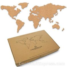 Corkboard world map pretty cool reminds me of the map we use to corkboard world map pretty cool reminds me of the map we use to push pin where ever we went totally going to do this apartment inspo pinterest gumiabroncs Gallery