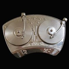 Turntable Mixer Belt Buckle Disc Jockey Spinners Record Players DJ Hip Music Belts & Buckles Cool Belt Buckles, Western Belt Buckles, Western Belts, Music Mixer, Fashion Belts, Cowboy And Cowgirl, Dj Table, Belt