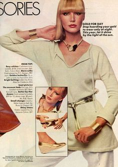 Ladies Home Journal - March, 1977 1977 Fashion, Let It Shine, Linen Trousers, Calvin Klein, Cashmere, March, Tunic, Journal, Lady