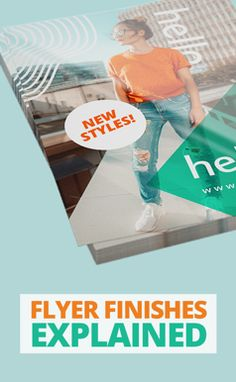 Not sure what kind of finish you want for your flyers? Find out the different flyer finishes and which one will bring out the best in your flyer design. Flyer Design, Layout Design, Print Design, Graphic Design, Fitness Inspiration, Design Inspiration, Design Ideas, Peter Saville, Saul Bass
