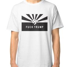 """""""Love Fuck Trump"""" Classic T-Shirts by angkykezey 