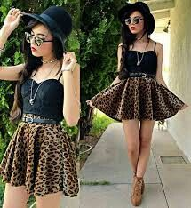 #stylish #skirt #blouse #leopardpattern