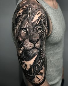 Fantastic Tattoos - the most interesting tattoo ideas + 2 .- Fantastische Tattoos – die interessantesten Tattoo-Ideen + 20 kreative Tätowierungen-Designs Fantastic Tattoos – The Most Interesting Tattoo Ideas + 20 Creative Tattoos Designs - Lion Head Tattoos, Body Art Tattoos, Tattoo Drawings, Small Tattoos, Tattoos For Guys, Cool Tattoos, Tattoo Ink, Tatoos, Lion Tattoo Sleeves