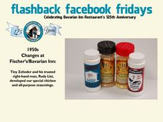 Each week during 2013, we will feature a flashback photo and share our history. Please share these weekly postings with your friends and family and join us in celebrating our 125th anniversary.  Week-18 Chicken Seasoning!