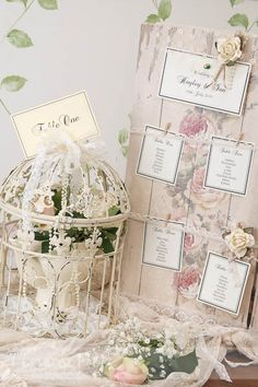 Wedding Birdcage with Lovely Favours