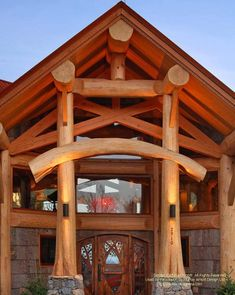 Log post and beam log home I designed in North Carolina about ten years ago. Log Home Builders, Modern Log Cabins, Log Home Living, Log Cabin Designs, Log Cabin Homes, Barn Homes, Log Home Decorating, Rustic Luxe, Timber House