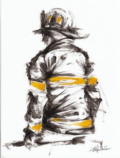 Want to try sketch this for practice Firefighter Drawing, Firefighter Crafts, Firefighter Apparel, Firefighter Paramedic, Firefighter Love, Volunteer Firefighter, Firefighter Tattoos, Fire Dept, Fire Department
