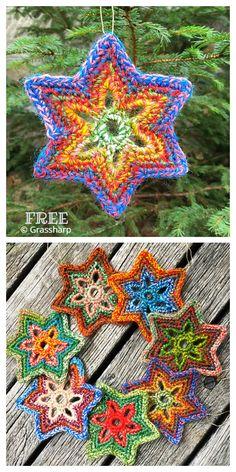 Christmas Star Ornament Free Crochet Patterns - DIY Magazine