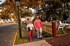 An autumn stroll. Fall leaves, foliage, Cape May Point, Ocean City, Jersey Cape, Cape May County, New Jersey