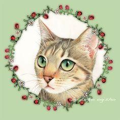 うっ。。。 Decoupage, Painting Fur, Cat Sketch, Cat Colors, Cat Jewelry, Kitty Cats, Dog Art, I Love Cats, Pet Portraits