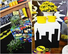 decoracao festa batman - Amarelo Ouro