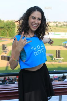Devyn Rush poses proudly in front of the field during the Stand Up Speak Out Concert On Saturday August 17th at Security Service Field in Colorado Springs, Colo