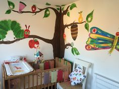 The very hungry caterpillar wall mural