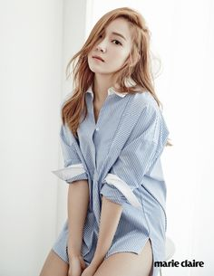 """Jessica Jung for Marie ClaireRight now, I am studying hard on my own. Whatever it is, if you endure it, then good times will surely come. Just by looking at how enduring difficult times have resulted more happy times in my life today."""""""