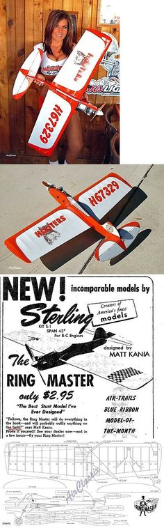ZSterling Models Plans Ringmaster From The for sale online Vintage Models, Vintage Toys, Rc Model Airplanes, People Poses, Radio Control, Blue Ribbon, Woodworking Ideas, Do Anything, Hobbies And Crafts