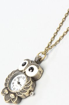 The Owl Watch Necklace by *Accessories Boutique