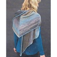 The Prism Landscape Wrap Kit in Delicato contains 6 skeins of coordinating yarn to create a shifting color effect.