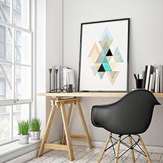 The Art & Wood. Cuadro diseño geométrico. Poster arte escandinavo. Decoración Hogar estilo nórdico.