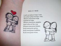 I considered this Shel Silverstein reading for the wedding, but I like the tattoo of its illustration better.