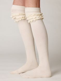 Free People Petticoat Tall Sock, $28.00  How adorable are these socks!?!?  They're too cute!!! LOVE IT!!