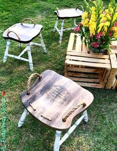 Upcycled: New Uses For Old Chairs #ChairRecicle #DeskChair