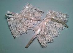 rękawki, mankiety koronkowe  - Magnolia-dziergana - Mankiety