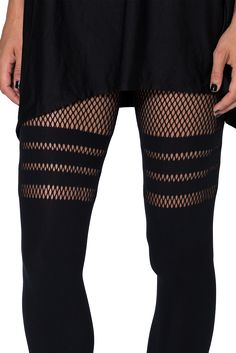 Sporty Stripes Hosiery (OSFA) > Black Milk Clothing