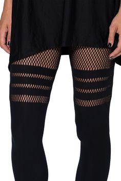 Sporty Stripes Hosiery (OSFA) > Black Milk Clothing