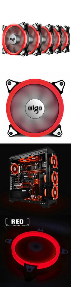 Aigo 120mm 12cm Halo Ring Neon RED LED Computer PC CPU Cooler Case Cooling Fan