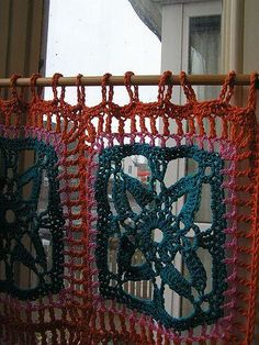 Granny squares para hacer cortinas?