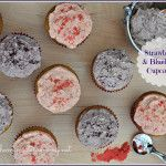 Strawberry and Blueberry Birthday Cupcakes