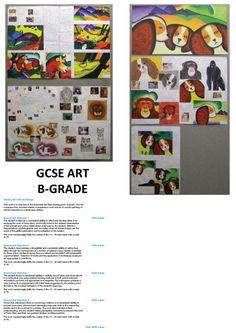 B-Grade GCSE Art Example