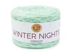 Platinum Grey, Sparkling Stars, Lion Brand Yarn, Yarn Shop, Winter Night, Iridescent, Free Pattern, Crochet Patterns, Knitting