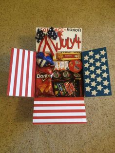Fourth of July Care Package #army #deployment #4thofjuly