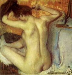 DEGAS. Mujer peinándose. 1885.