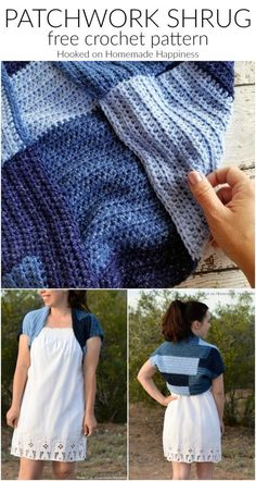 Patchwork Shrug Crochet Pattern   Hooked on Homemade Happiness