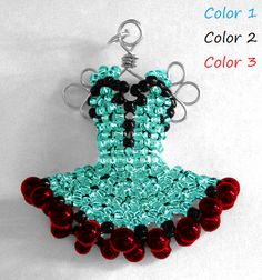 Miniature Bead Dress Pendants MadetoOrder by pinkythepink on Etsy, $80.00