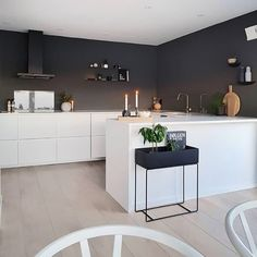 U Shaped Kitchen Open Plan Kitchen Living Room, Kitchen Room Design, Design Room, Küchen Design, Kitchen Interior, New Kitchen, Kitchen Dining, Kitchen Decor, U Shape Kitchen